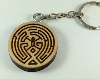 Keychain Medallion series tv WESTWORLD labyrinth MAZE keyring