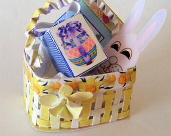 1:12th scale Miniature Easter Basket Digital Download kit