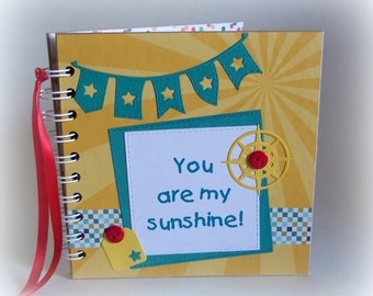 You are MY SUNSHINE premade 6x6 scrapbook flip book photo book vacation keepsake