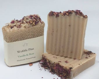 Vanilla & Rose Handmade Soap
