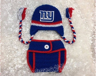 Baby New York Giants Diaper Cover Set/Baby Football/Newborn Baby/Baby Boy/Baby Girl/Newborn Photo prop/Baby Shower Gift/MADE TO ORDER