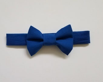 Royal Blue Bow Tie, Baby Toddler Boy Bow Tie, Velcro Clip On Bow Tie, Baby Shower, Baby Gift, Baby Pictures, Formal Wear, Dapper