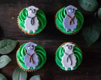 Alpaca Fondant Cupcake Topper