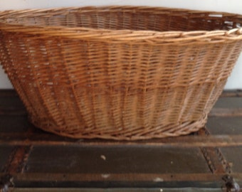 Antique Wicker Laundry Basket