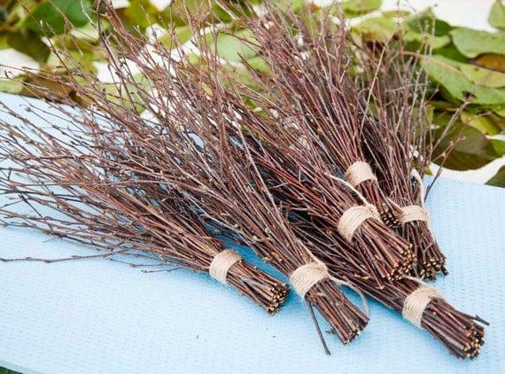 6 bundles of birch twigs birch bark wedding decor birch tree for Twigs decoration for weddings