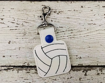Volleyball Keychain - Bag Tag - Zipper Pull - Bag Accessory - Small Gift