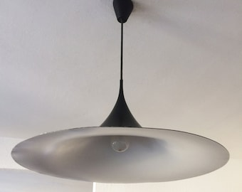 Large Mid Century Modern Pendant Lamp | Hanging Light 'SEMI' ∅ 60 cm | Claus BONDERUP and Thorston THORUP for Fog & Morup | 1960s/70s