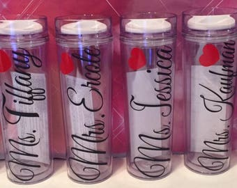 TEACHER APPREDIATION Tumblers..
