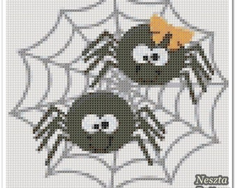 Spider Cross Stitch Pattern, Spider x stitch pattern, colorfull Cross stitch Embroidery, Embroidery pattern