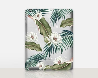 Tropical Flowers Transparent iPad Case For - iPad 2, iPad 3, iPad 4 - iPad Mini - iPad Air - iPad Mini 4 - iPad Pro