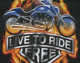 Live To Ride Free T SHIRT