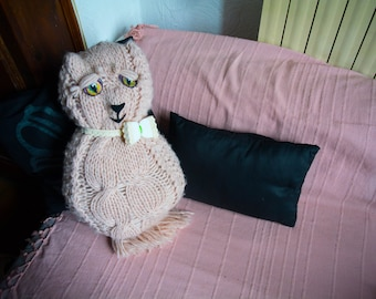The pink cat - stuffed handmade