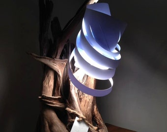Driftwood with shade table lamp