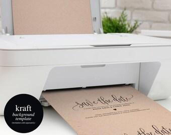 Kraft Background Template, Background Printable, Kraft Paper, Kraft Background, PDF Instant Download #BPB329_1