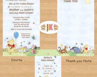 Winnie the Pooh Roomates Baby Shower Invitations DIGITAL FILE (S) UPRINT