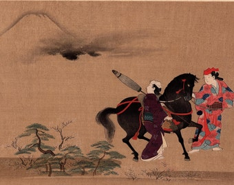 "1923, Japanese vintage Woodblock print, antique, Hosoda Eishi, ""Enchantresses"""