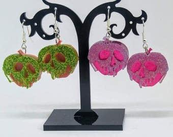 Poison Apple resin earrings inspired by Disney's Snow White Evil Queen - PLEASE READ DESCRIPTION