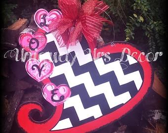 Valentines Door Hanger, Door Hanger, Heart Door Hanger, Valentines Day Door Hanger, Love, Love Door Hanger