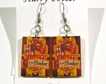Handmade GRYFFINDOR earrings from Harry Potter