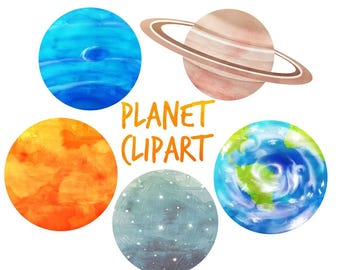 Outer space clipart | Etsy