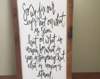 Beautiful Barnwood Framed Sign