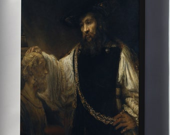 Canvas 24x36; Aristotle With A Bust Of Homer By Rembrandt