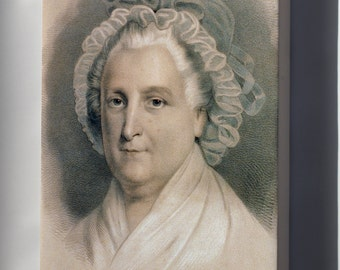 Canvas 24x36; Martha Washington By Currier And Ives