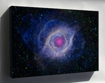 Canvas 24x36; Helix Nebula Unraveling At The Seams