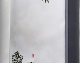 Canvas 16x24; Kaman K1200 K-Max Drops Water On Wildfire, Florida