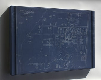 Canvas 16x24; Map Of Walter Reed General Hospital, Washington, D.C., Post Map 1935