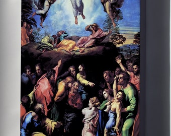 Canvas 16x24; Transfiguration, 1520, Unfinished At His Death. By Raphael