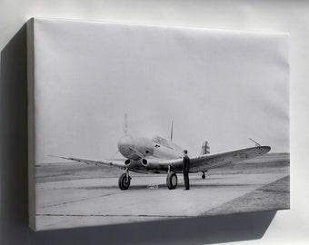 Canvas 16x24; Northrop A-17A A-17 Naca, Langley, Virginia, 3 April 1940
