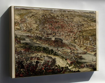 Canvas 16x24; Map Of Siege Of Vienna, Austria