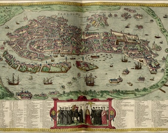 16x24 Poster; Map Of Venice Italy 1612