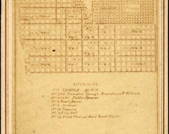 16x24 Poster; Salt Lake City Plan, Circa 1870S