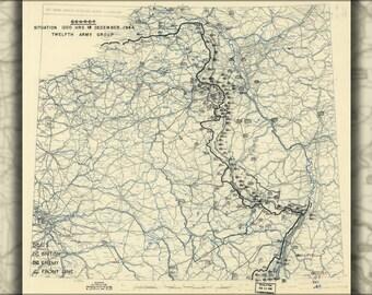 16x24 Poster; Map Dec 18, 1944 Battle Of The Bulge