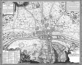 16x24 Poster; Map Of Paris France Circa 1180