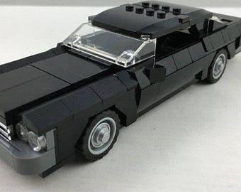 Lego Black Chevrolet Impala Classic Muscle Car Engine Sports Vehicle Display Hot Wheels Vintage Cars