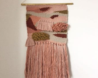 """10"""" x 24"""" Handwoven Wall Hanging / Tapestry Weaving"""