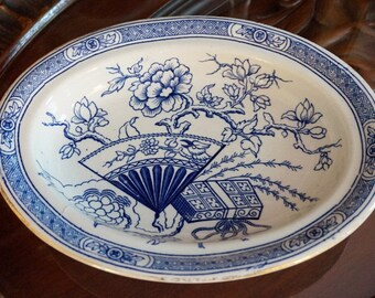 Victorian Blue & White Dish