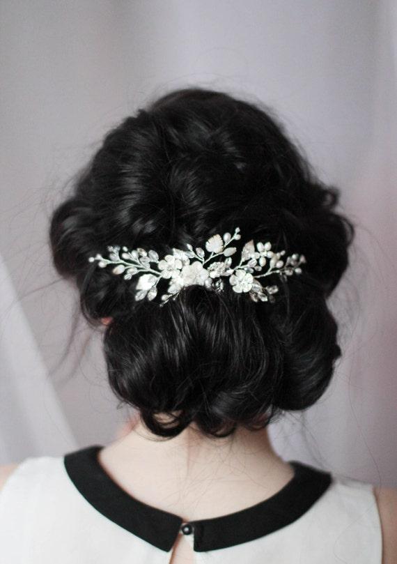 Pearl Hair Piece Bridal Head Piece Wedding Headpiece Pearly Hair Comb Wedding Hair Piece Mother Of Pearl Hair Comb Hair Clip Hair Accessory