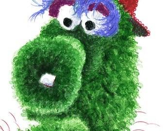 Phillie Phanatic - Philadelphia Phillies - Phillies Baseball - Mascots - Phillies Art - Baseball Art - Phillies Gift - Wall Art - Dorm Decor