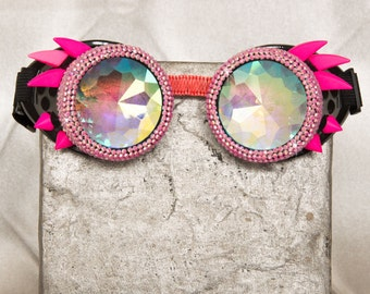 """Steampunk """"The Pink Owl"""" Goggles"""