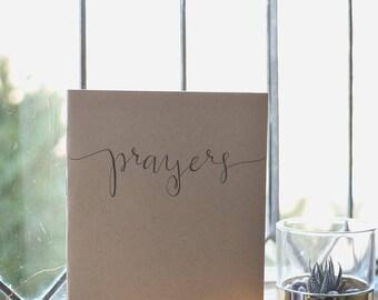 Handlettered Prayer Journal