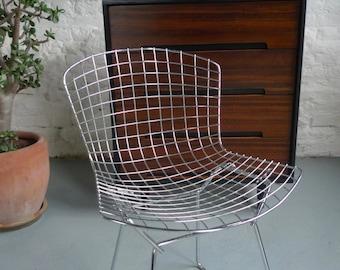 Harry Bertoia Chrome Side Chairs Mid-century Vintage
