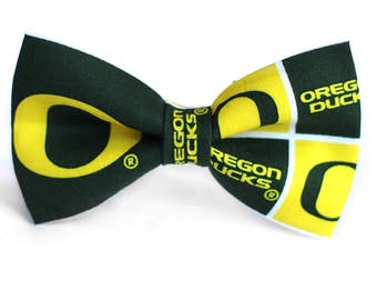 Oregon Ducks Bow Tie | College Bow Tie | Sports Bow Tie | College Team | Gift for Him | Kid Basketball Bow Tie | Coach Gift | Dog Bow Tie
