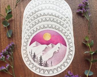 Moon/Mountains Sticker