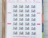 Kawaii Unicorn Stickers - Laundry