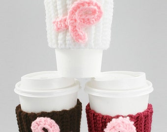 Cancer Awareness Coffee Cozy