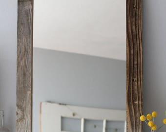 Farmhouse Mirror, Reclaimed Wood Mirror, Large Mirror, Rustic Mirror, Farmhouse Decor, Hanging Mirror, Bathroom Mirror, Vanity Mirror,Mirror